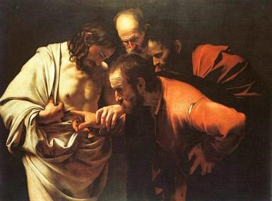 The Incredulity of Saint Thomas' by Caravaggio