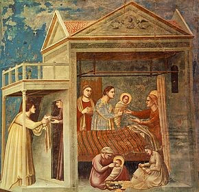 The Birth of the Blessed Virgin Mary by Giotto (circa 1305)