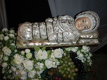 The Infant Mary wrapped in swaddling clothes